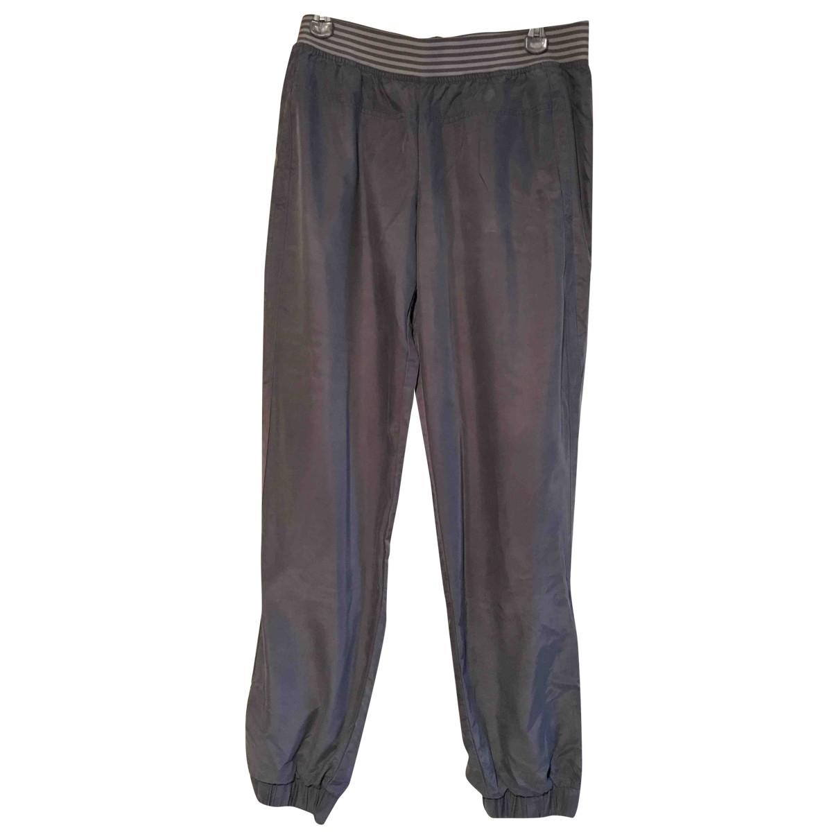 Pantalon en Poliester Antracita Stella Mccartney Pour Adidas