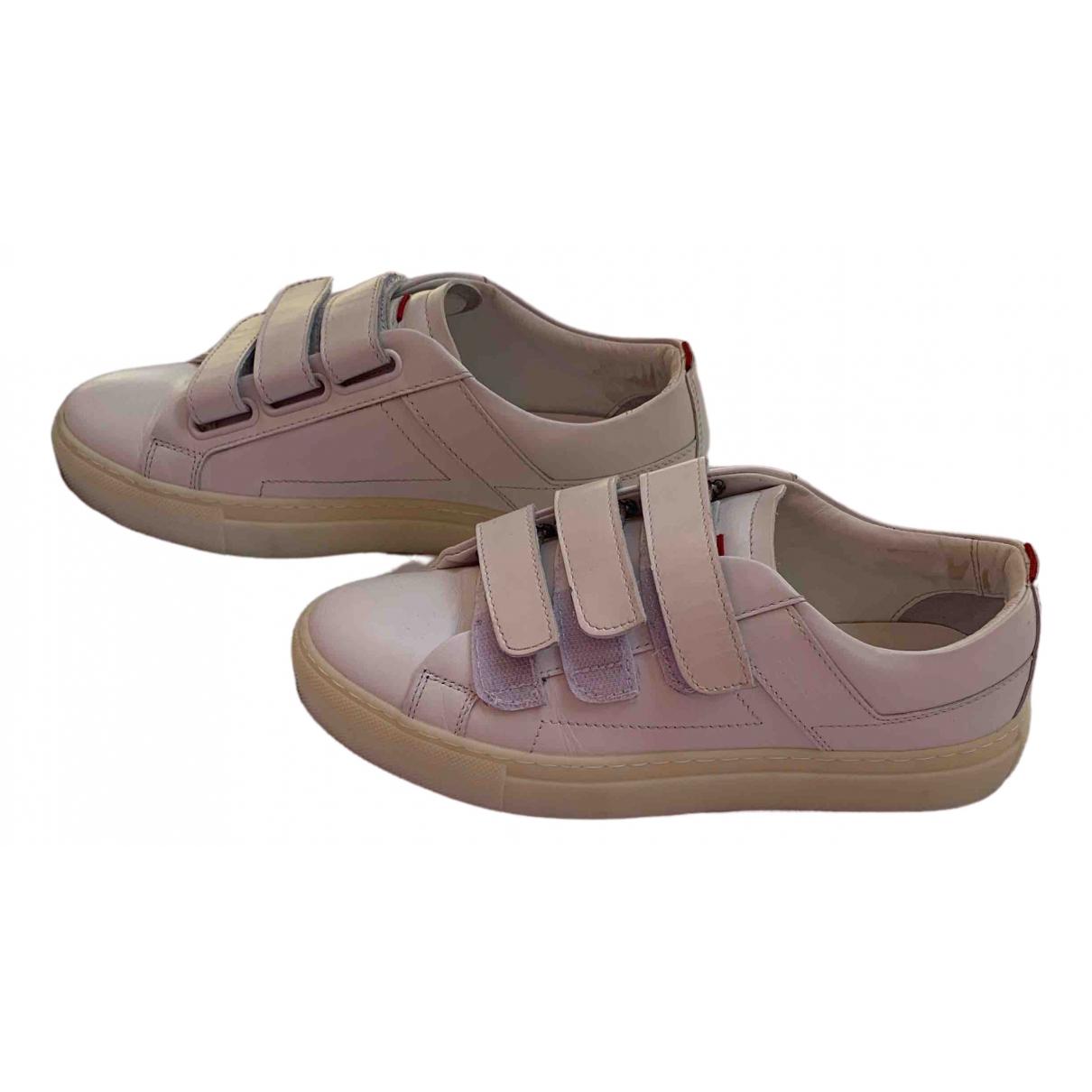 Hugo Boss \N Sneakers in  Weiss Leder