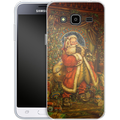 Samsung Galaxy J3 (2016) Silikon Handyhuelle - Myles Pinkeney - Christmas Presence von TATE and CO