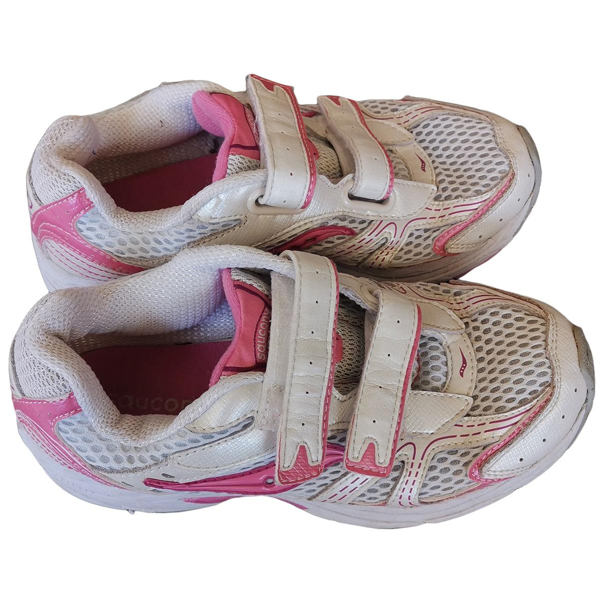 Saucony \N Sneakers in  Weiss Leinen