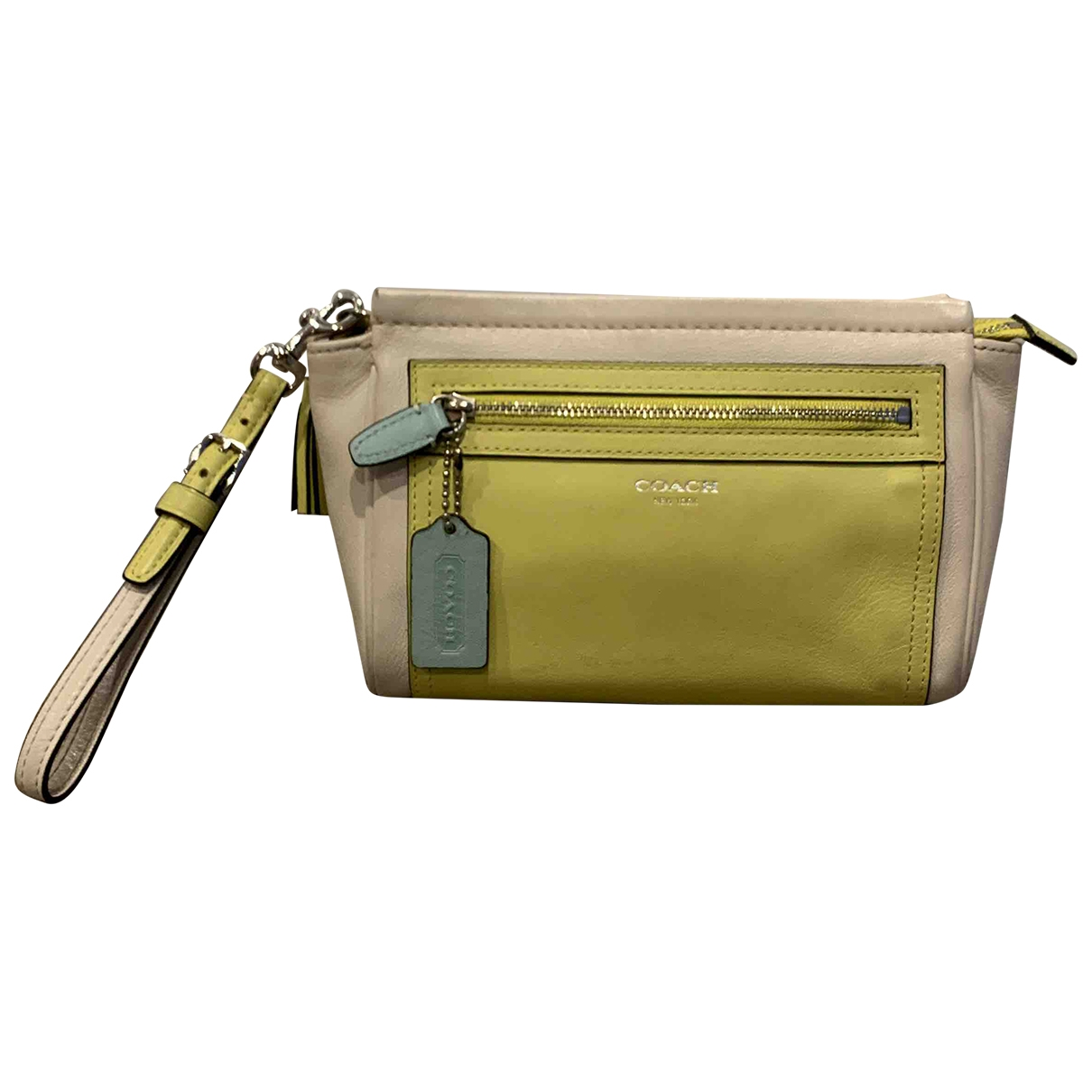 Coach \N Clutch in  Gelb Leder