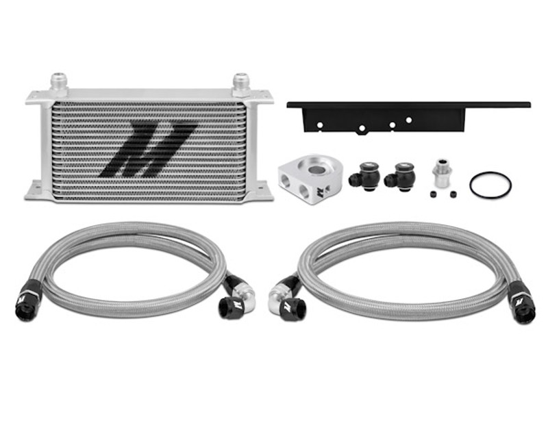 Mishimoto MMOC-350Z-03T Silver Thermostatic Oil Cooler Kit Infiniti G35 Coupe 3.5L 03-07