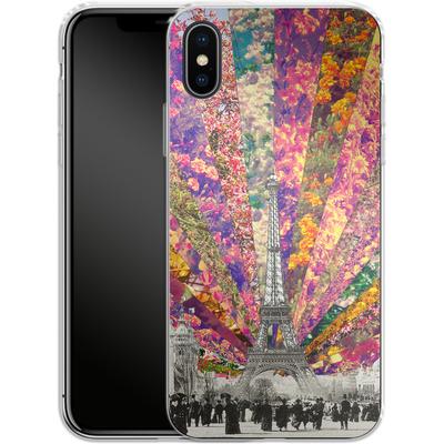 Apple iPhone X Silikon Handyhuelle - Vintage Paris von Bianca Green