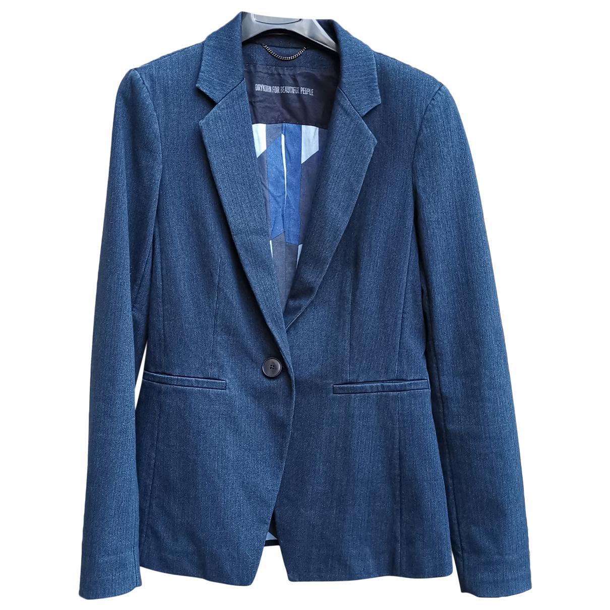 Drykorn N Blue Cotton jacket for Women S International