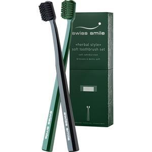 Swiss Smile Zahnpflege Herbal Style Soft Toothbrush Set 1 Toothbrush Green + 1 Toothbrush Black 1 Stk.
