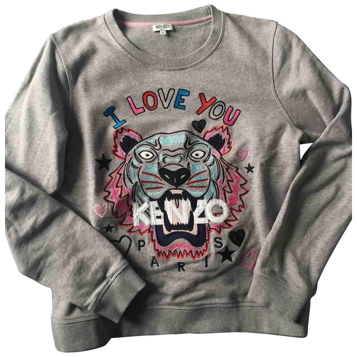Kenzo \N Pullover in  Grau Polyester