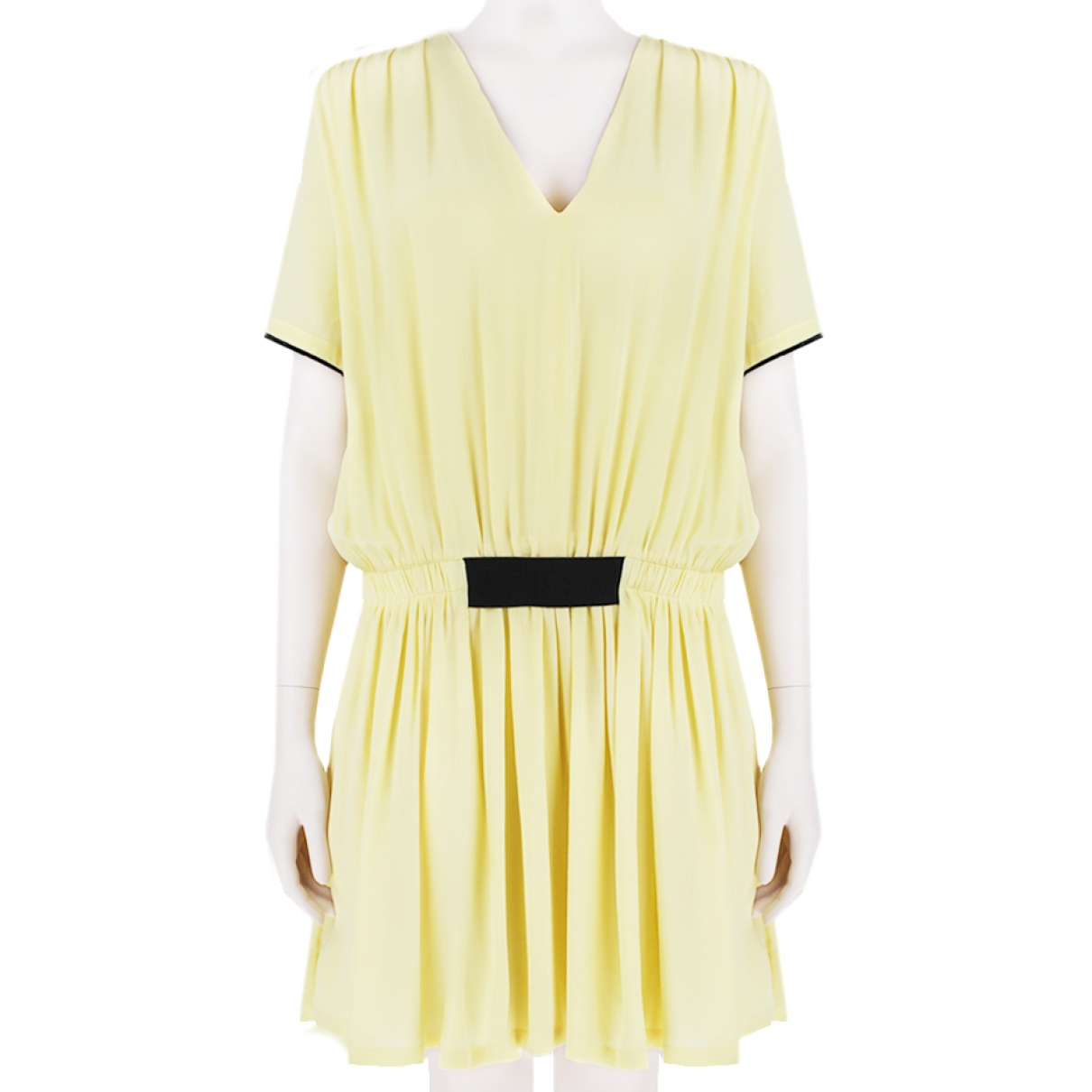 Victoria, Victoria Beckham \N Kleid in  Gelb Seide