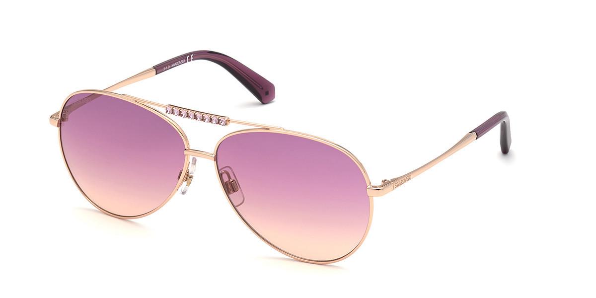 Swarovski SK0308 28Z Women's Sunglasses Gold Size 60