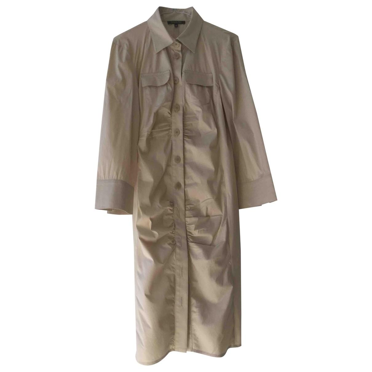 Patrizia Pepe \N Beige Cotton dress for Women 46 IT