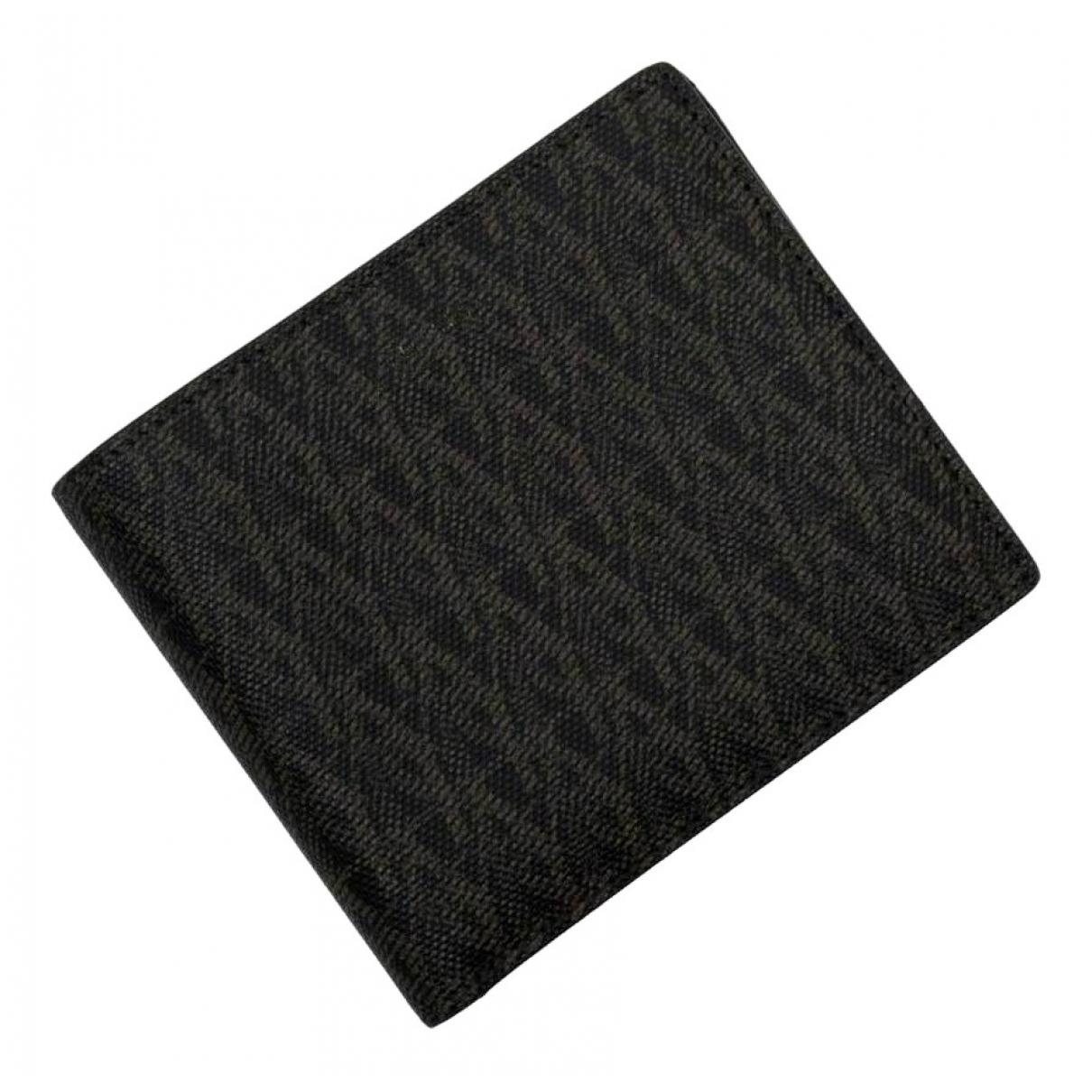 Saint Laurent \N Brown Cloth Small bag, wallet & cases for Men \N