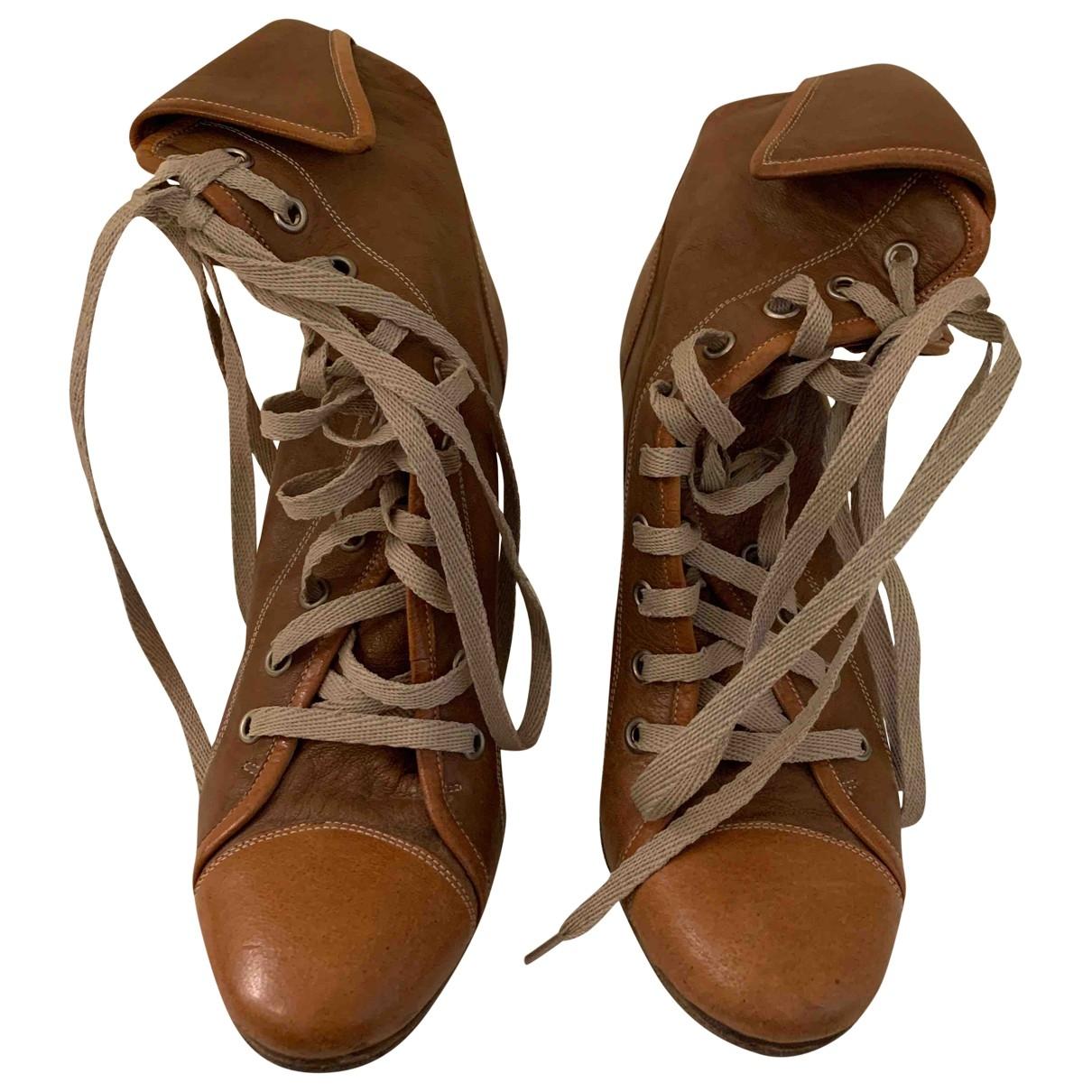 Chloe - Boots River pour femme en cuir - marron