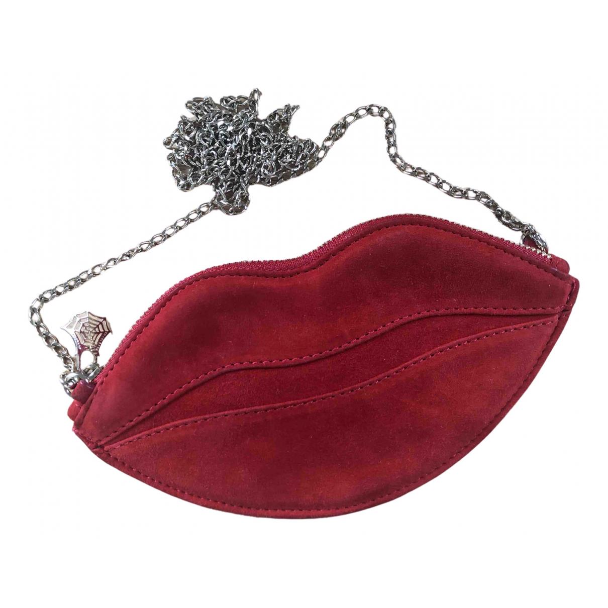 Charlotte Olympia \N Handtasche in  Rot Veloursleder