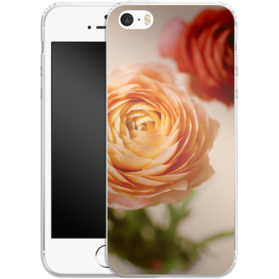 Apple iPhone SE Silikon Handyhuelle - She Loved Flowers von Joy StClaire