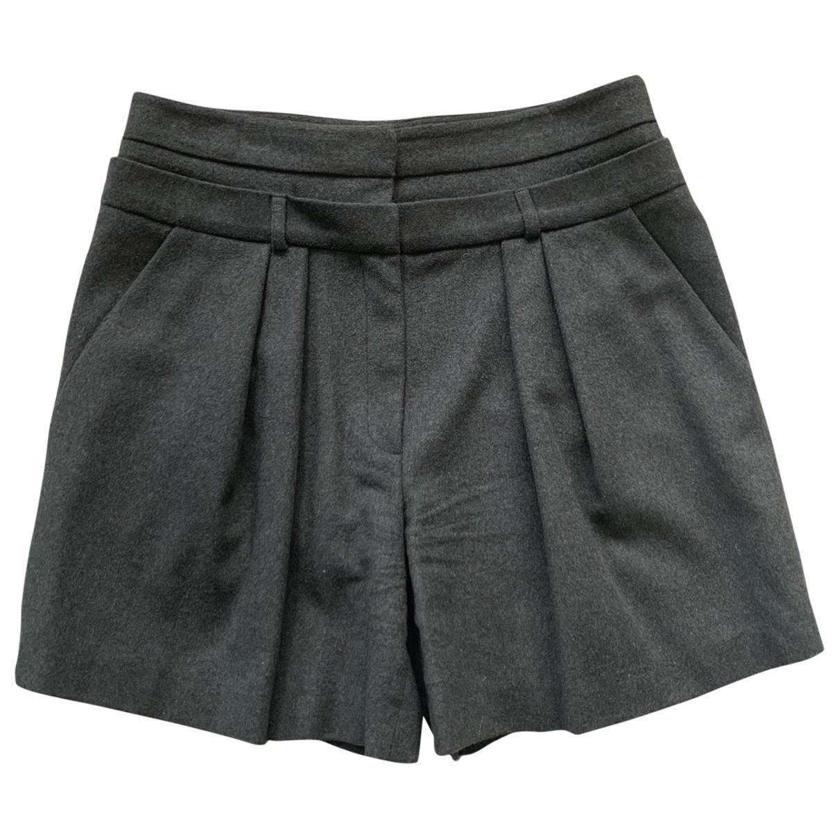 Paul & Joe \N Khaki Wool Shorts for Women 40 FR