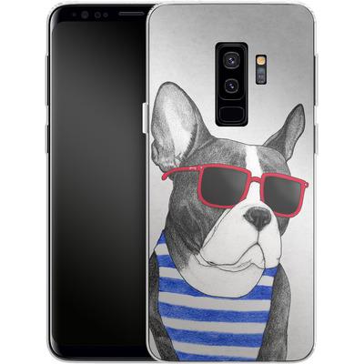 Samsung Galaxy S9 Plus Silikon Handyhuelle - Frenchie Summer Style von Barruf