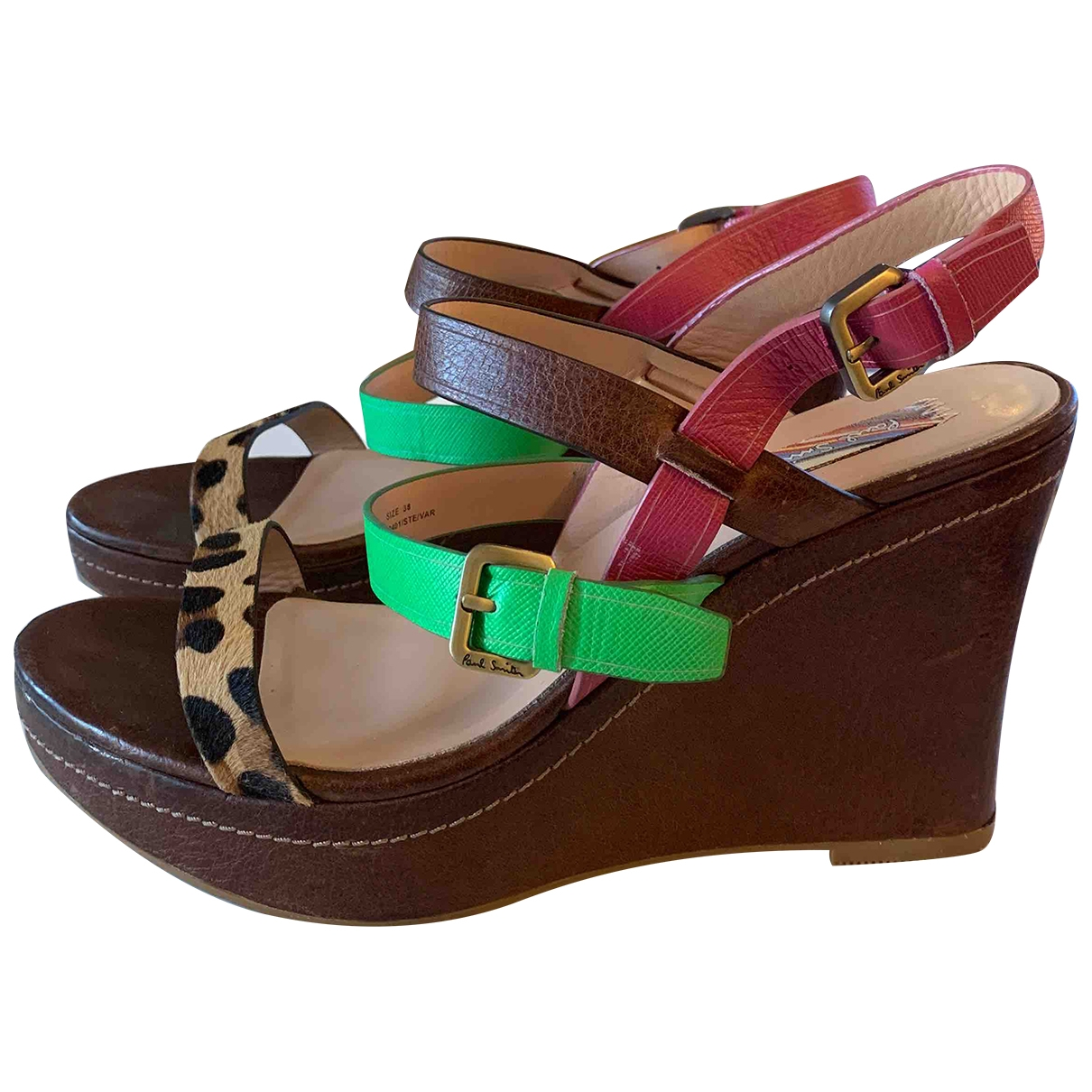 Paul Smith \N Brown Leather Sandals for Women 38 EU