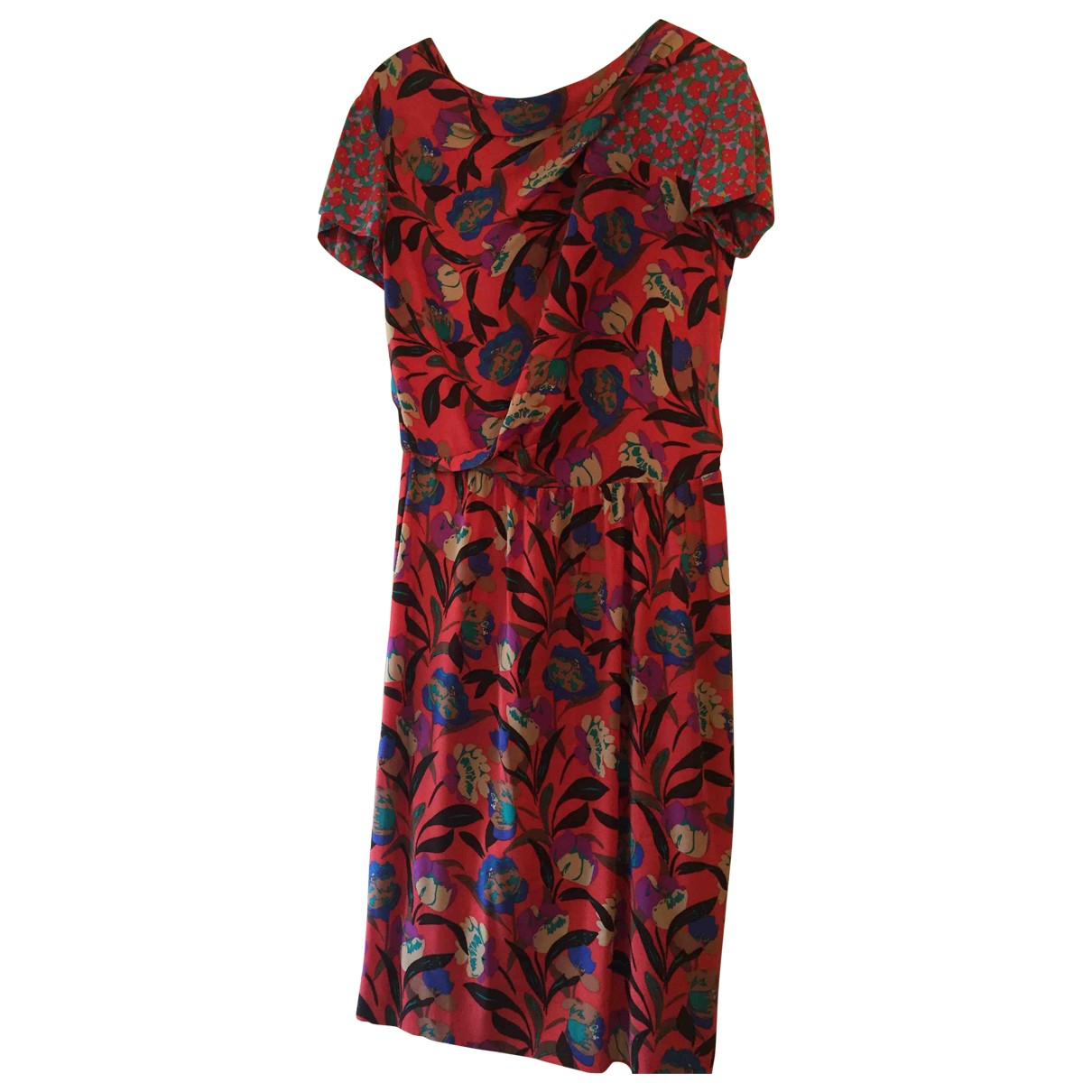 Etro \N Red Silk dress for Women 46 FR
