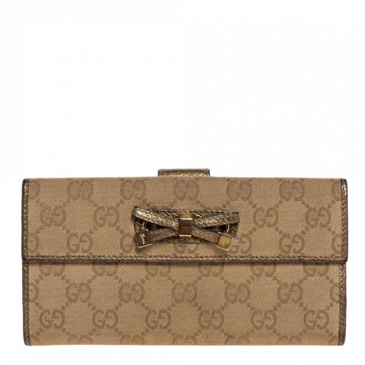 Gucci Continental Portemonnaie in  Gold Leder