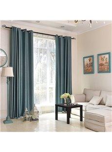 Modern Simple Silky Blackout Custom Grommet Curtains for Living Room Bedroom