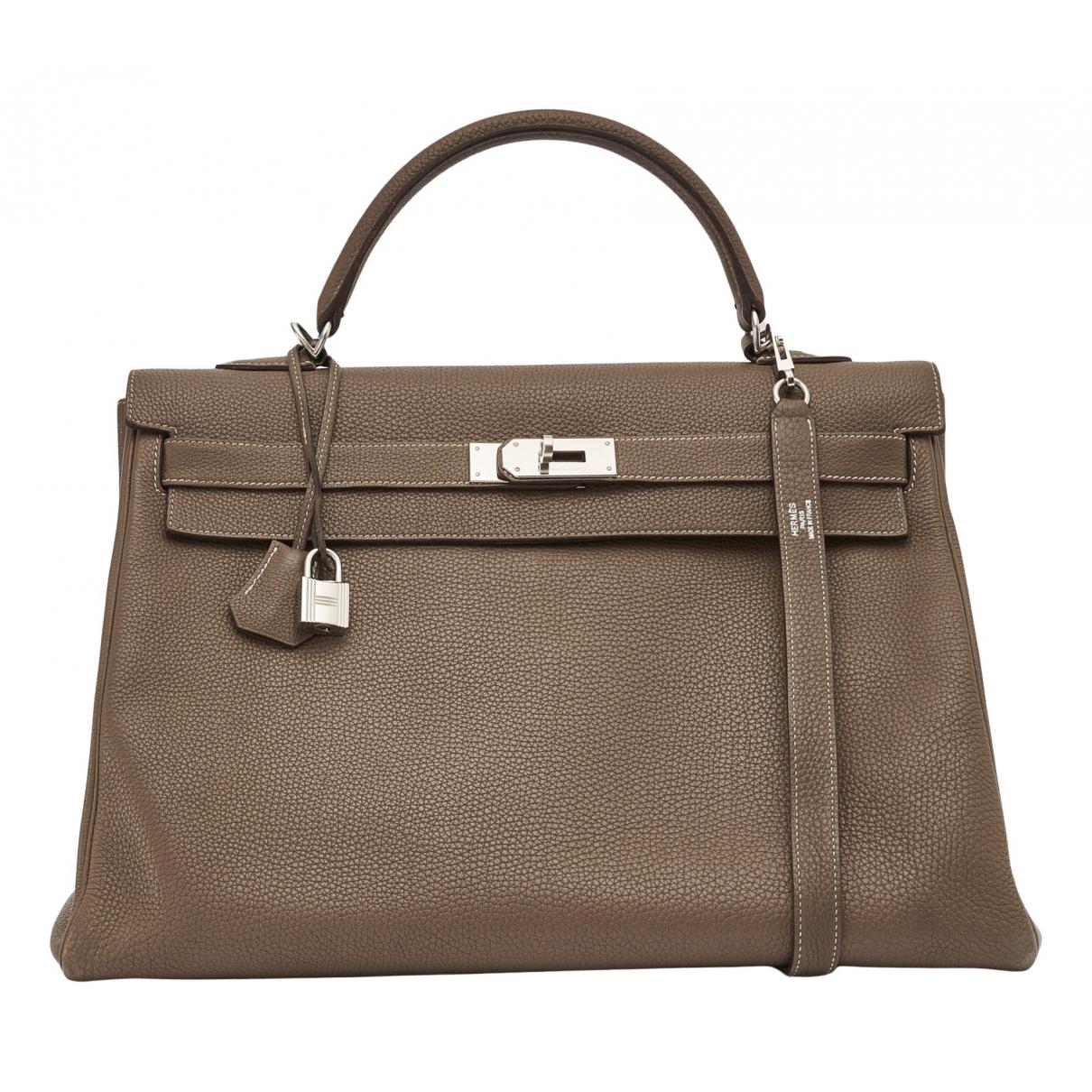 Hermès Kelly 40 Brown Leather handbag for Women N