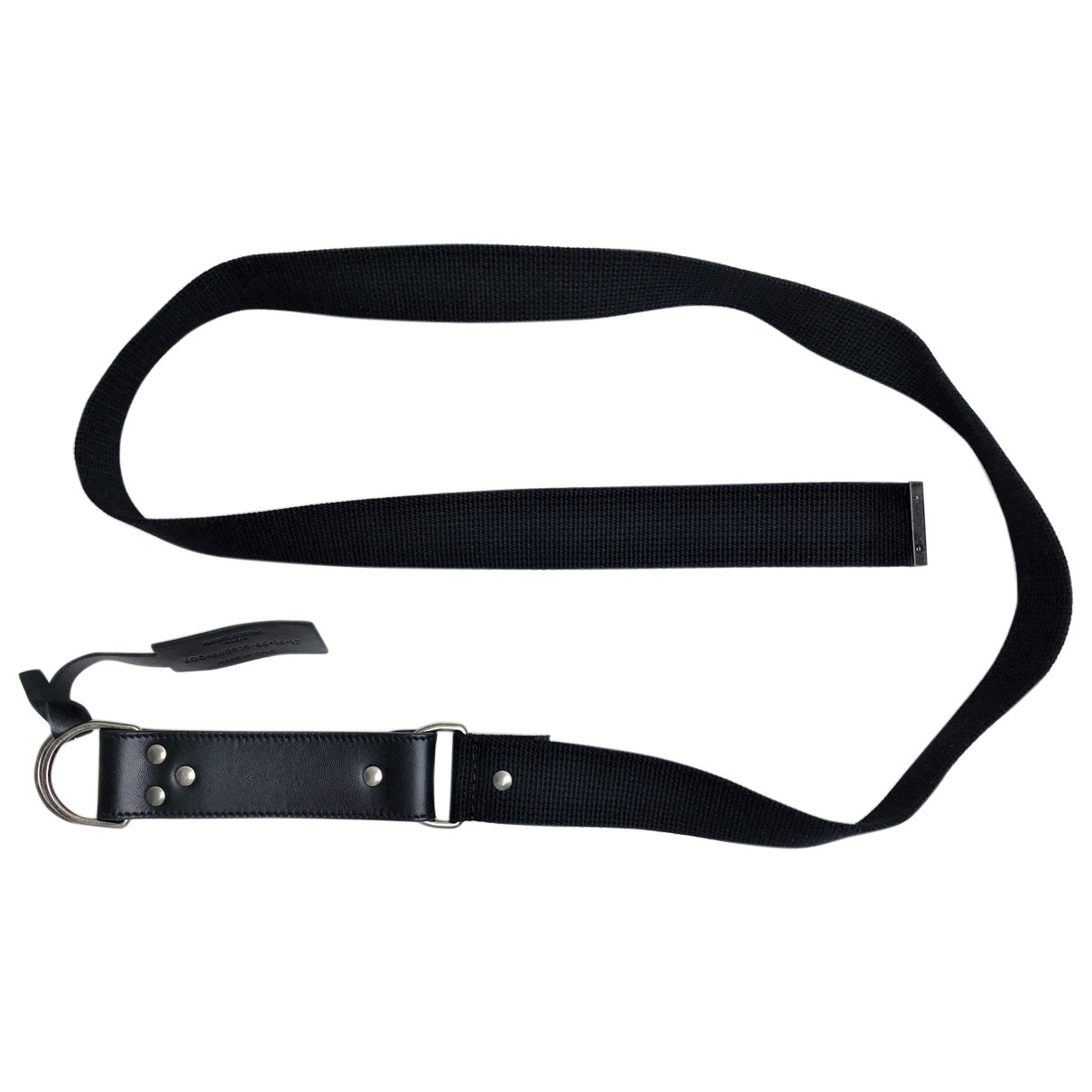 Saint Laurent N Black Cotton belt for Women 80 cm