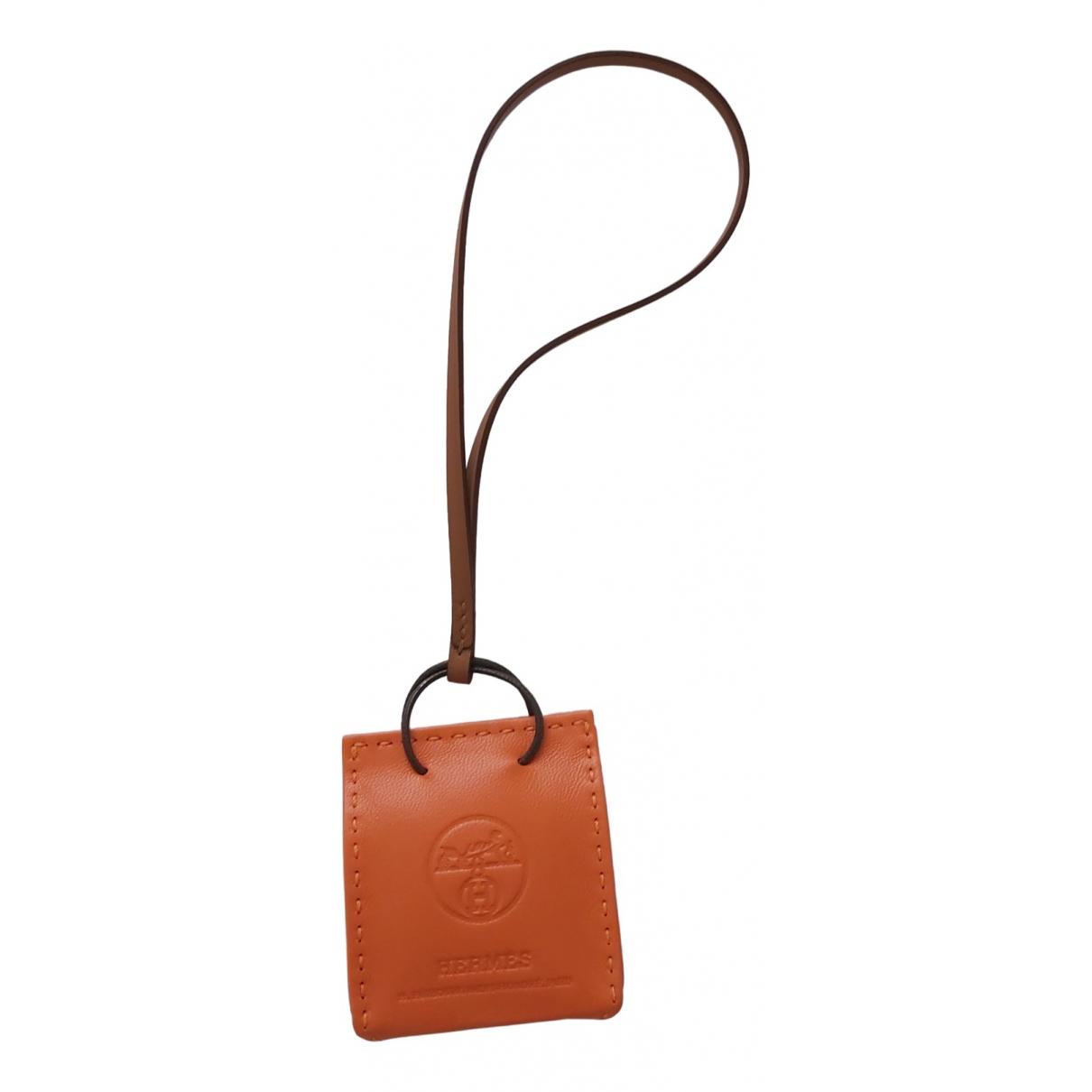 Hermes - Bijoux de portable   pour femme en cuir - orange