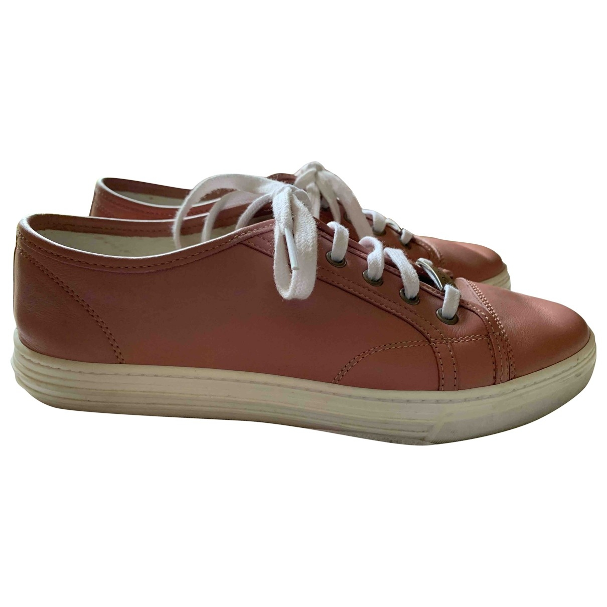 Gucci \N Pink Leather Trainers for Women 38 EU