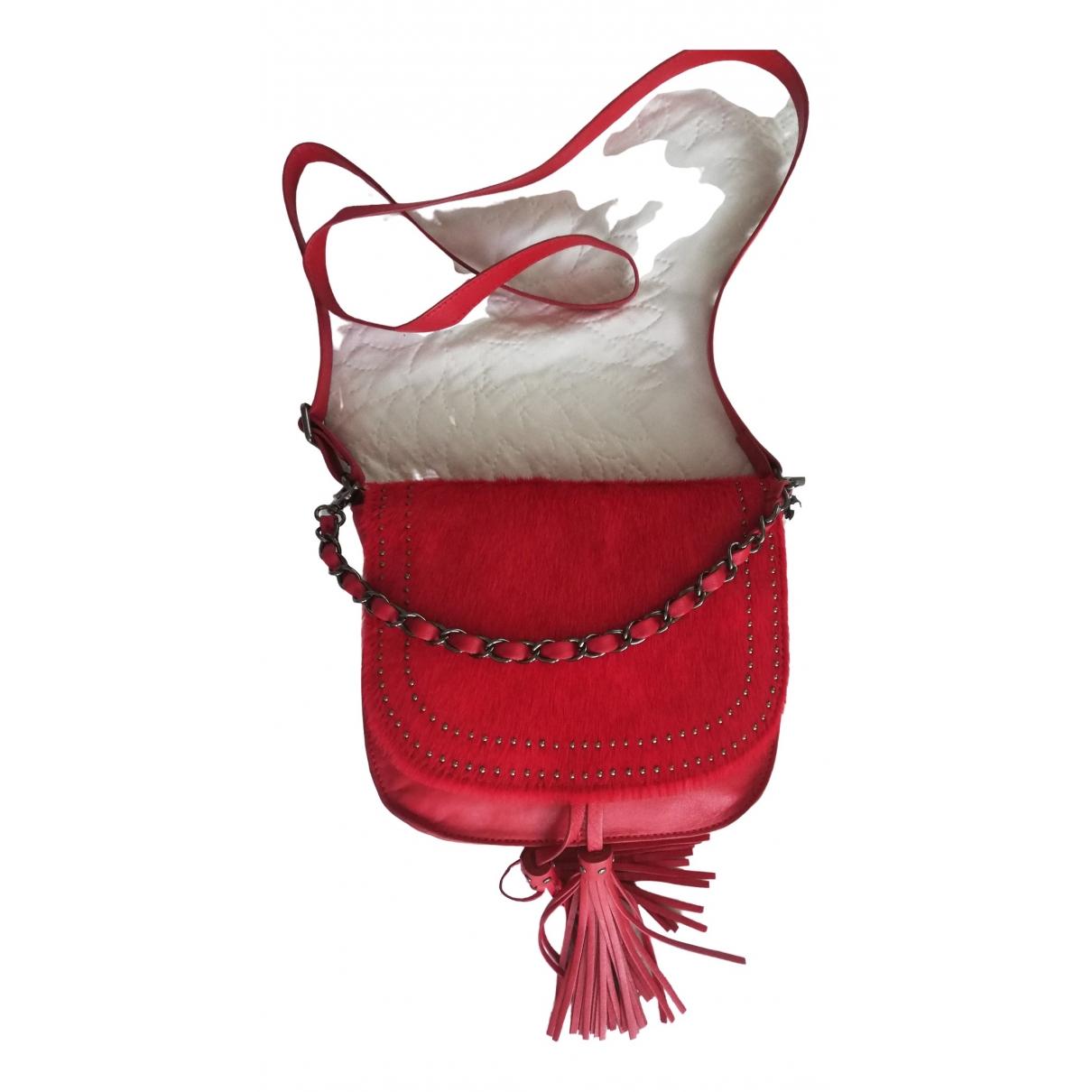 One Step \N Handtasche in  Rot Leder