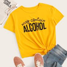 May Contain Alcohol Graphic Tee