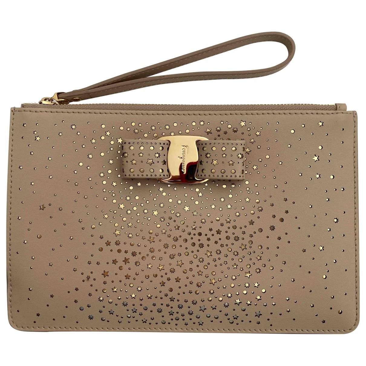 Salvatore Ferragamo \N Beige Leather Purses, wallet & cases for Women \N