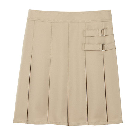 French Toast Little & Big Girls Adjustable Waist Scooter Skirt, 14 , Beige