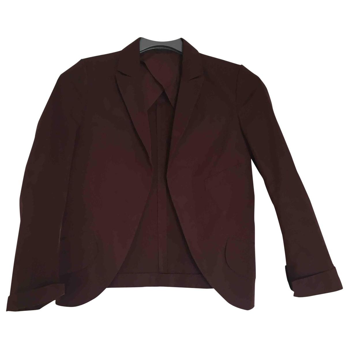 Jil Sander \N Burgundy Cotton jacket for Women 36 FR