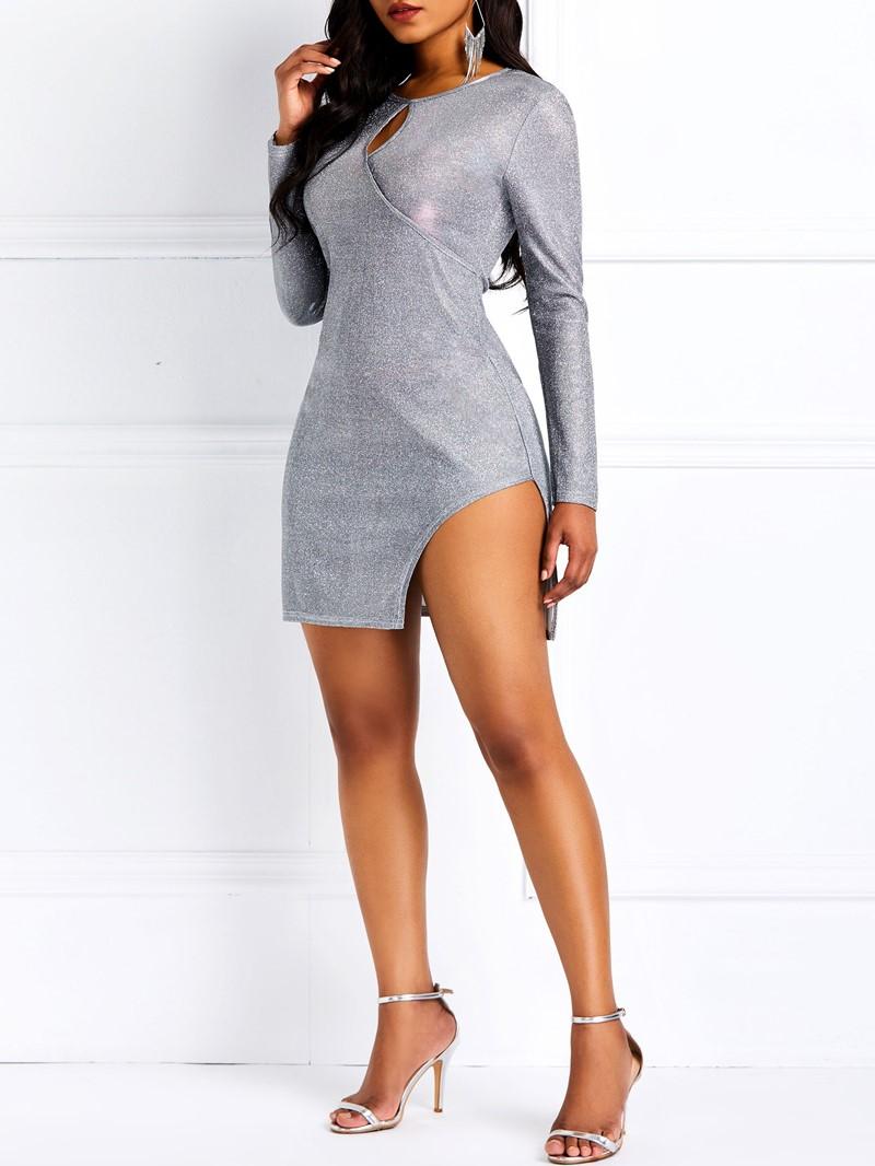 Ericdress Split Plain Stretchy Standard-Waist Pullover Dress