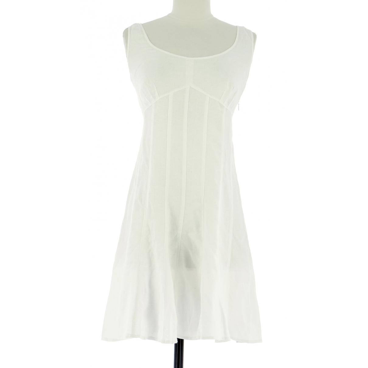 Gerard Darel \N White Linen dress for Women 38 FR