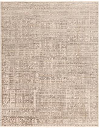 Nobility NBI-2301 6' x 9' Rectangle Traditional Rug in Beige  Taupe  Dark