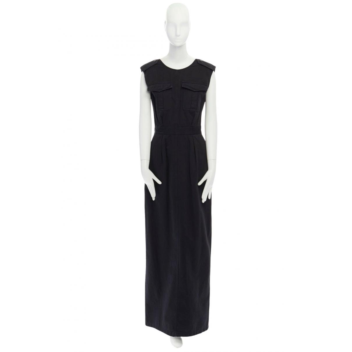 Dries Van Noten \N Kleid in  Schwarz Baumwolle