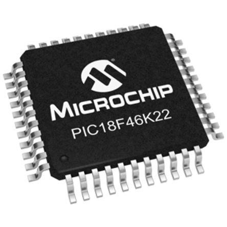 Microchip PIC18LF46K22-I/PT, 8bit PIC Microcontroller, PIC18F, 64MHz, 64 kB Flash, 44-Pin TQFP