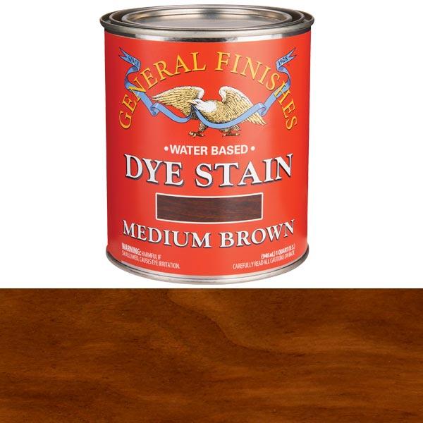 Medium Brown Dye Water Based Quart