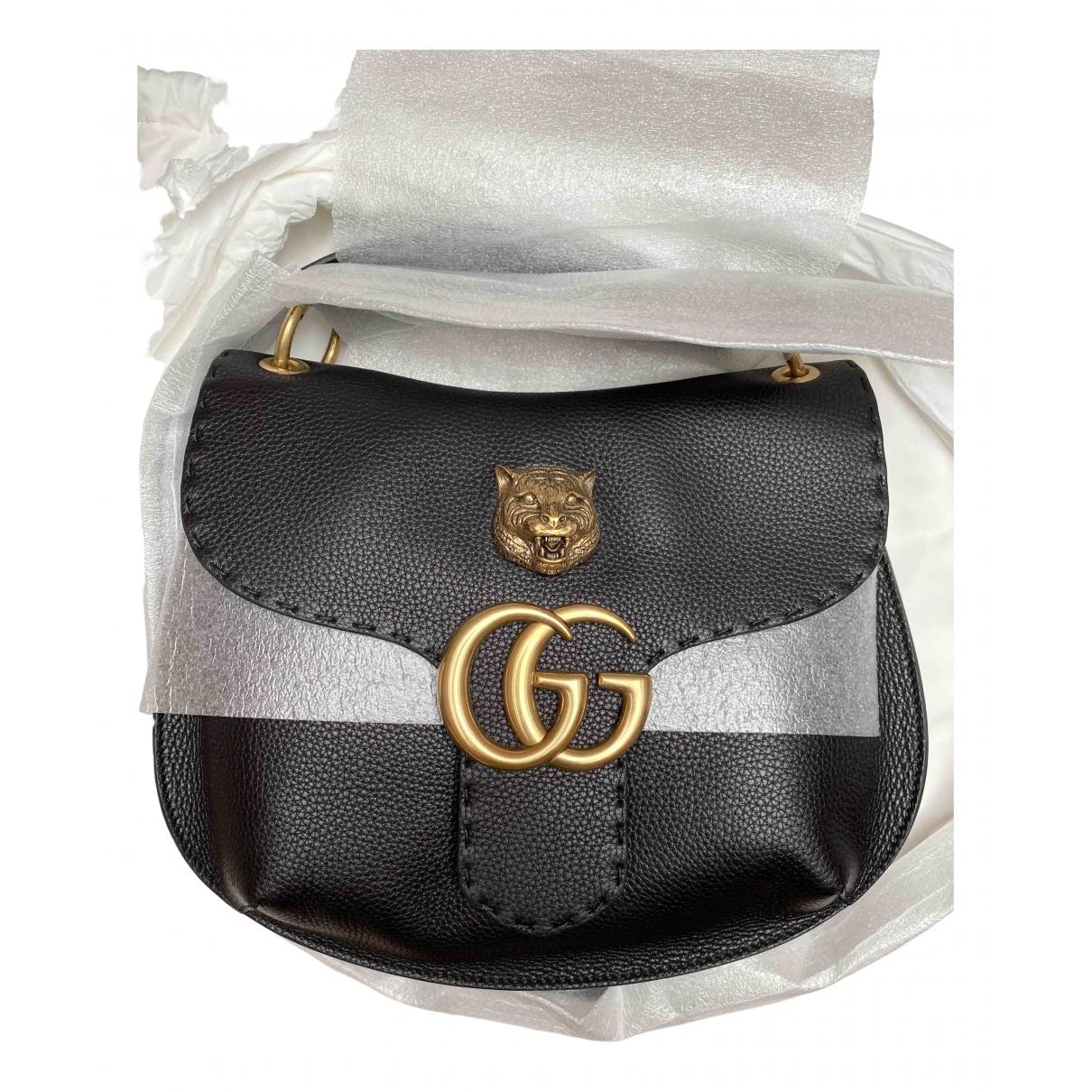 Gucci - Sac a main Animalier pour femme en cuir - noir