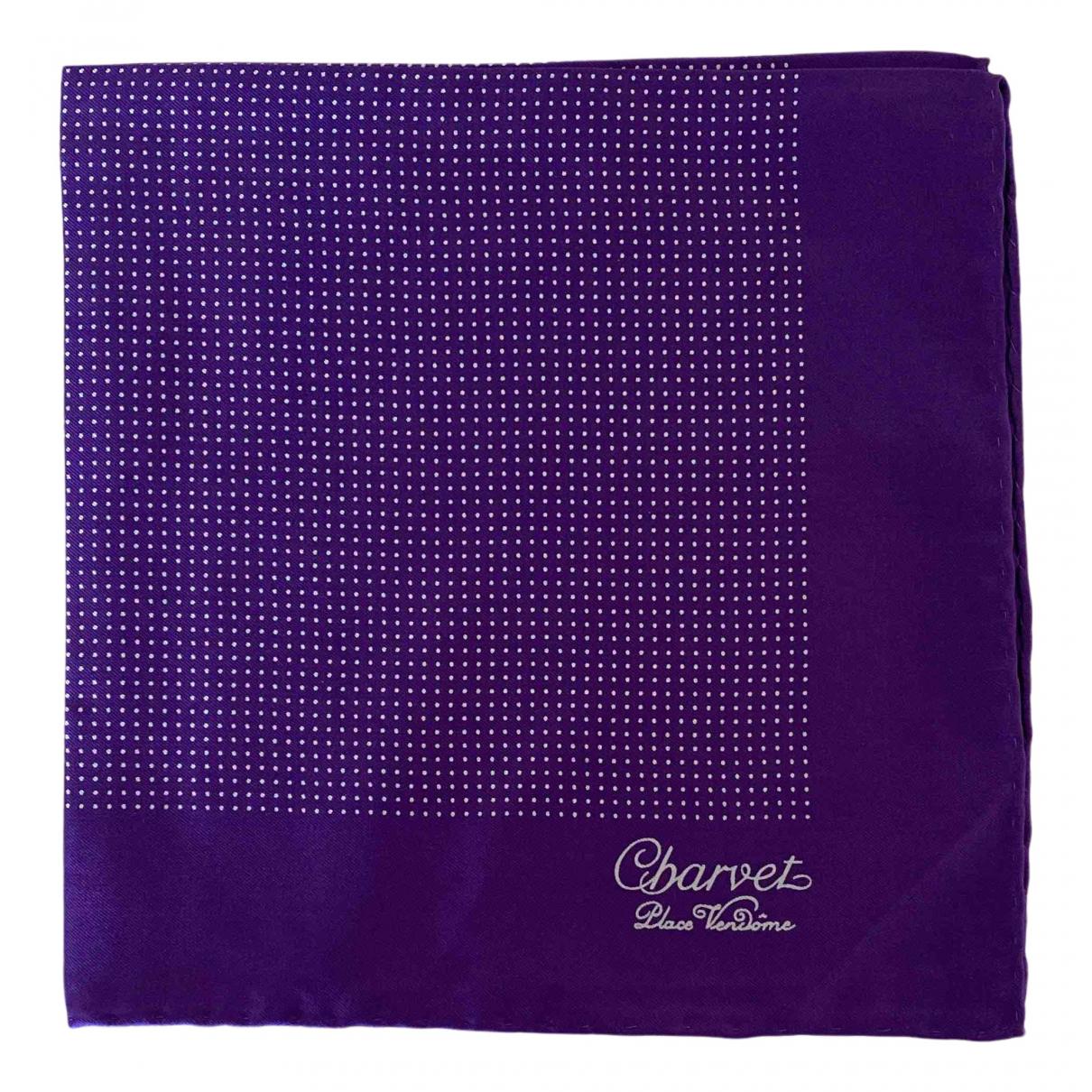 Charvet N Purple Silk scarf & pocket squares for Men N