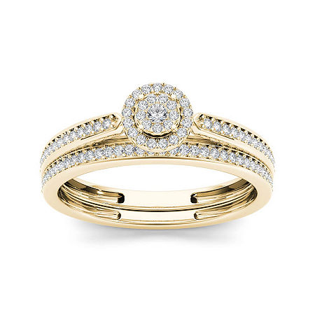 1/4 CT. T.W. Diamond 10K Yellow Gold Bridal Ring Set, 8 1/2 , No Color Family