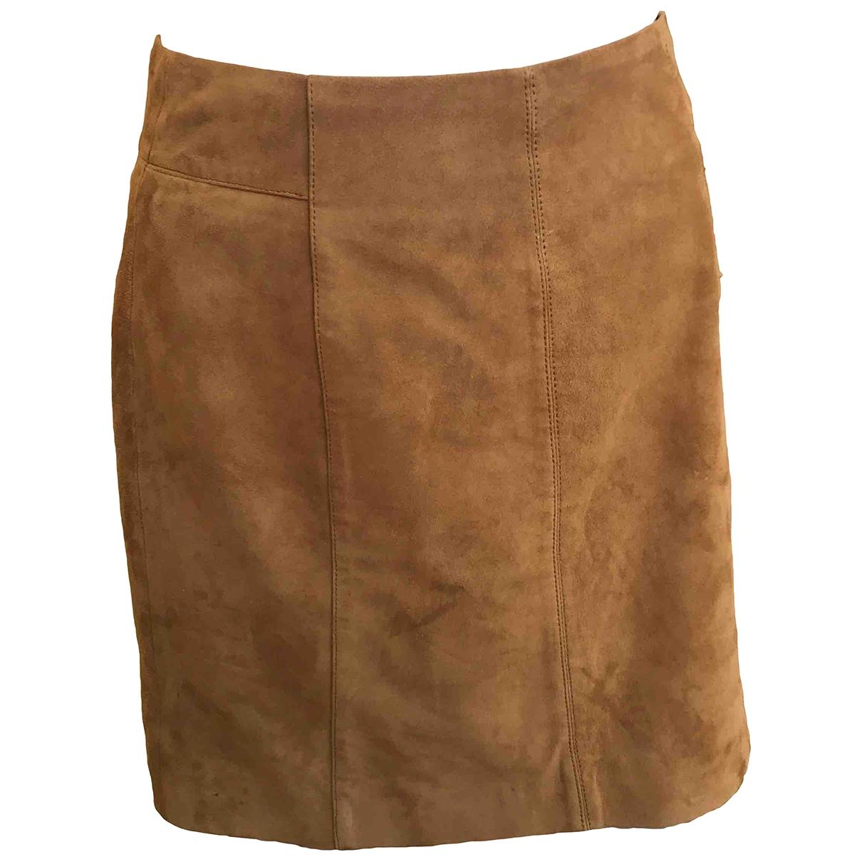 Comptoir Des Cotonniers - Jupe   pour femme en cuir - marron