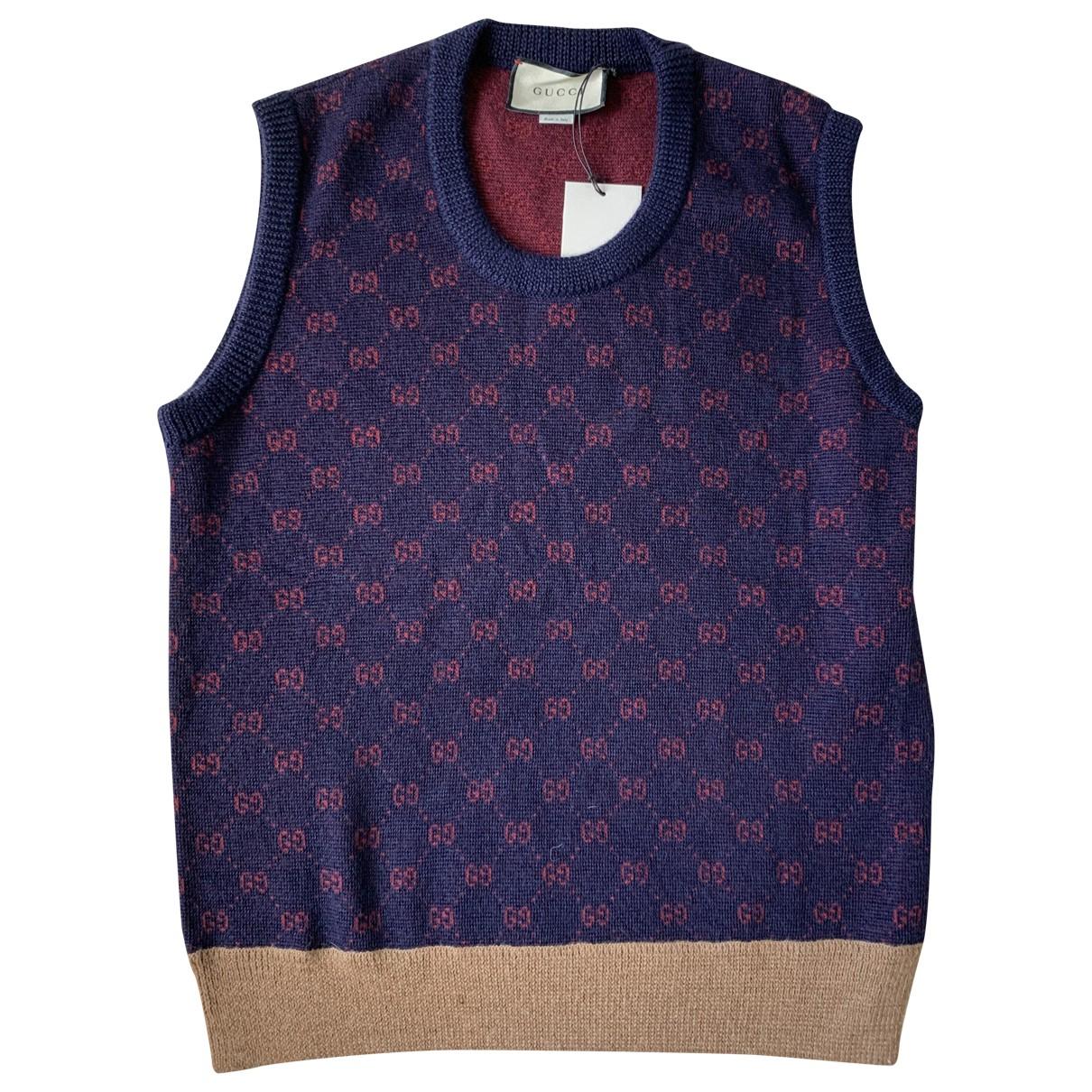 Gucci \N Pullover.Westen.Sweatshirts  in  Bordeauxrot Wolle
