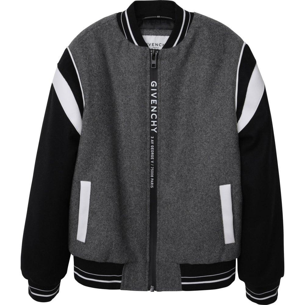Givenchy Bomber Jacket. Colour: GREY, Size: 12 YEARS