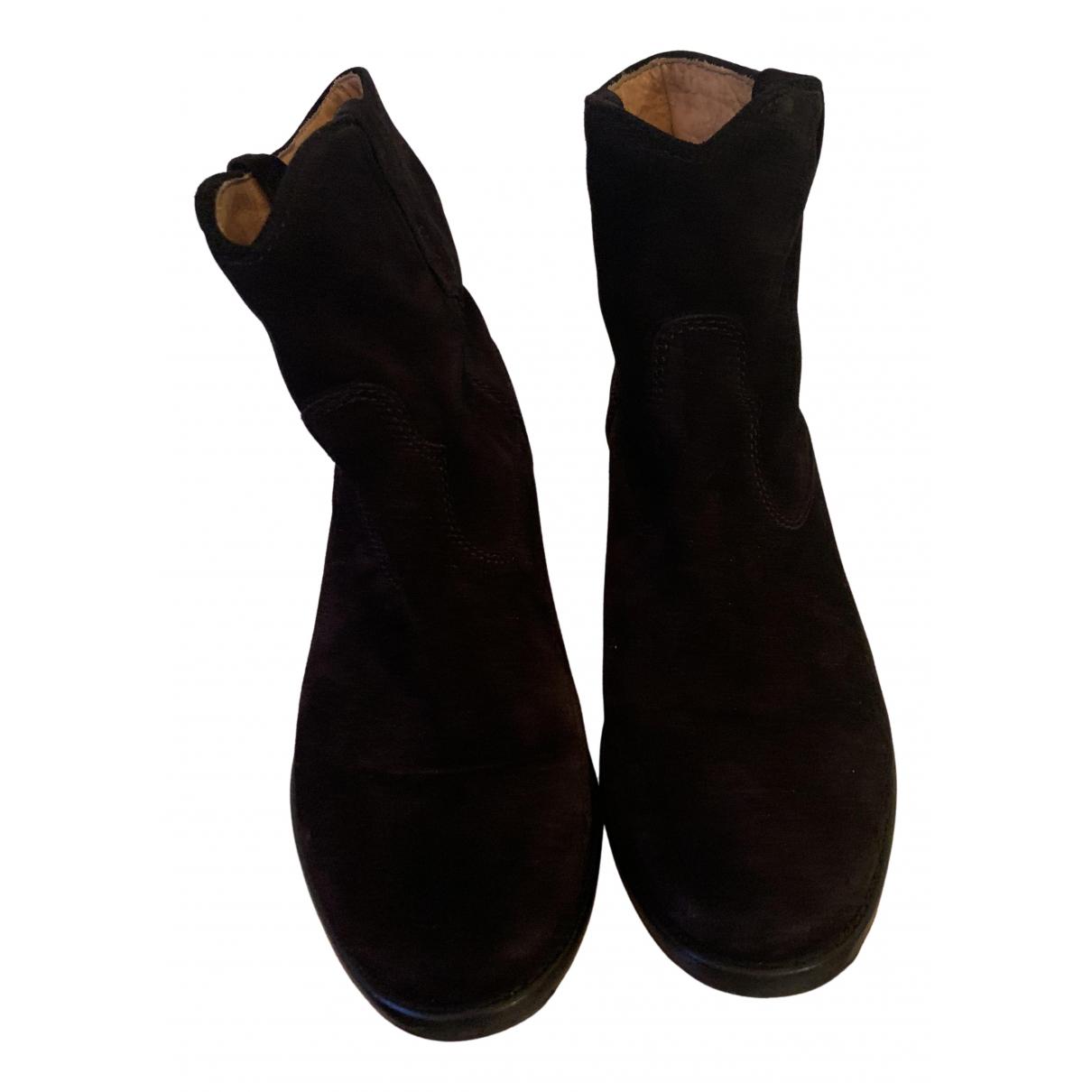 Isabel Marant - Boots Crisi  pour femme en suede - noir