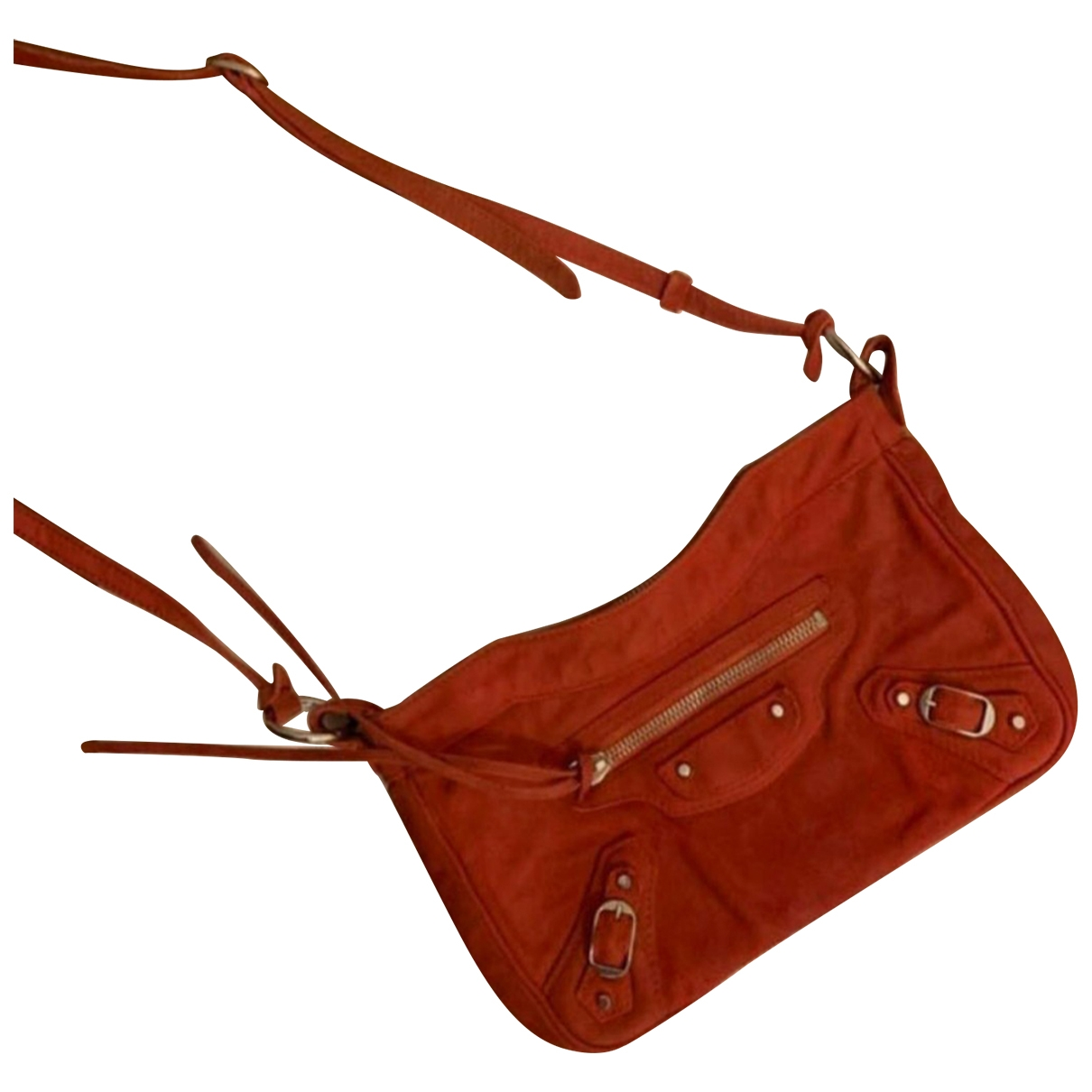 Balenciaga \N Orange Suede handbag for Women \N