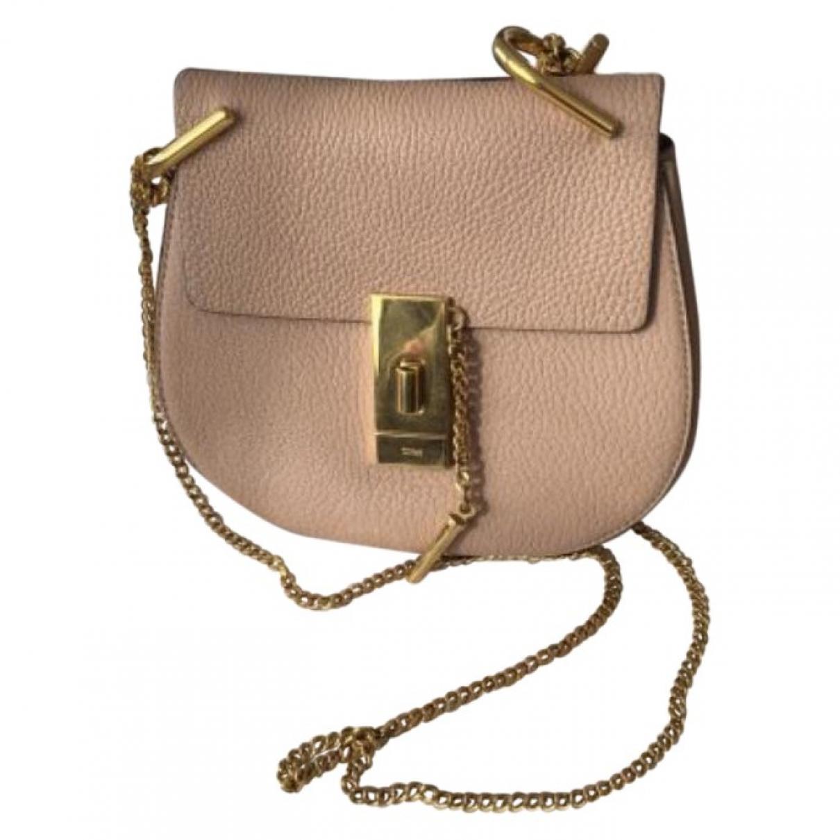 Chloe Drew Handtasche in  Rosa Leder