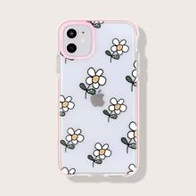 Funda de iphone floral con marco en contraste