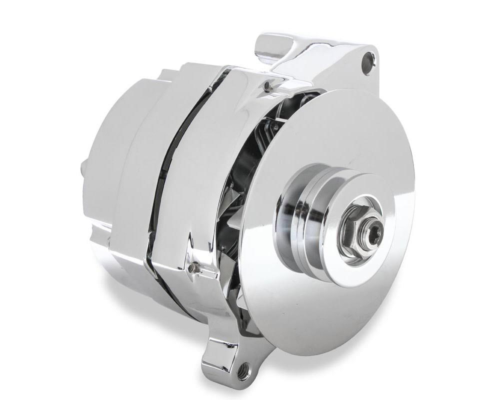 Mr. Gasket 1-Wire Alternator - 100 Amp - Chrome Finish