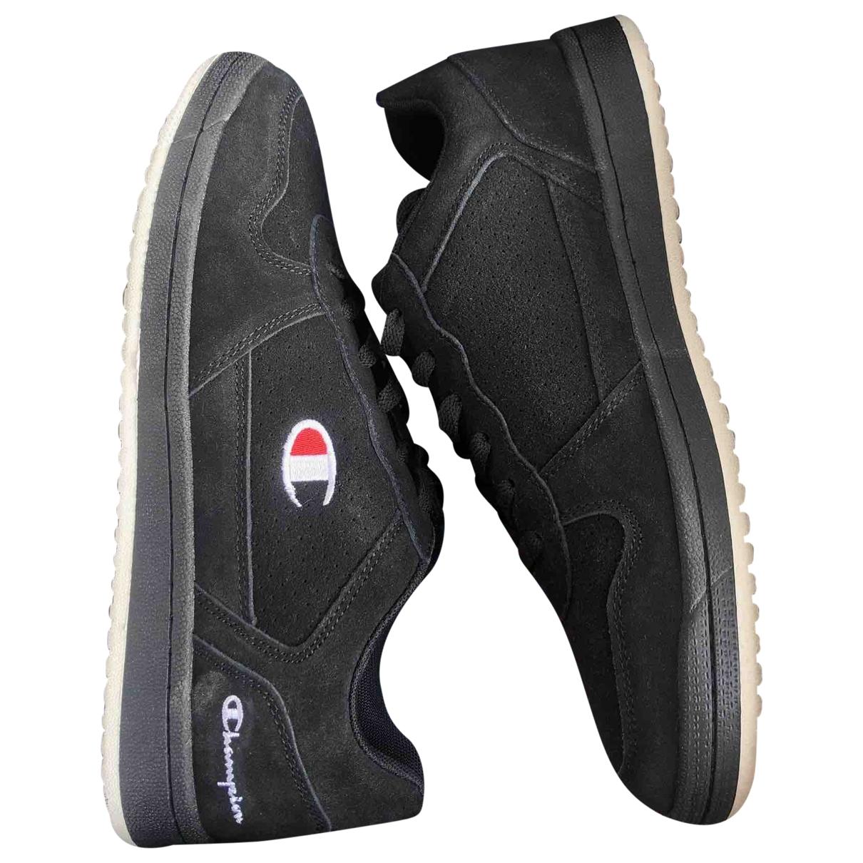 Champion \N Sneakers in  Schwarz Veloursleder